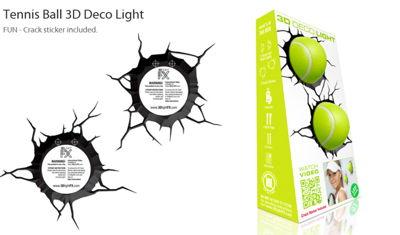 Lámpara 3D Pelota de Tenis x2